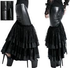 Jupe sirène longue gothique lolita baroque burlesque vinyle dentelle Punkrave