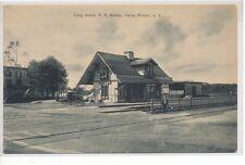 RARE 1910 Valley Stream LIRR Station L.I. NY Long Island Rail Road post card