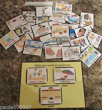 VISUAL FLASH CARDS IN COLOUR, PECS~HOME~CLASS~HOLIDAY~PRE-SCHOOL~ASD~AUTISM~SENS