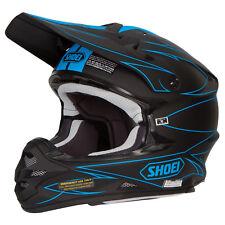 Shoei VFX-W Motocross Mx Enduro Casco Bicicleta HECTIC tc-2 NEGRO MATE / Azul