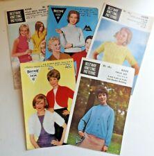 Bestway Vintage Ladies Knitting Patterns - Sweaters Twin Set etc Take Your Pick
