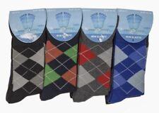 12 Pares de Calcetines para hombre No Elástico Suave diabéticos Calcetines Para Hombre Argyle Patrón De Diseño
