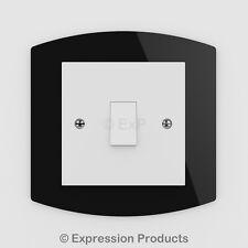 Singola/doppia luce Interruttore Presa Piastra Posteriore Pannello Surround Dito (05)