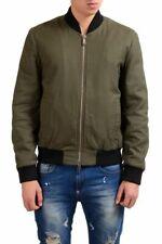 Dsquared2 Men's Olive Green Full Zip Padded Bomber Jacket Size XS M