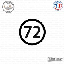 Sticker Département 72 Sarthe Pays de la Loire Le Mans Decal Aufkleber Pegatinas