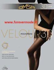 2 Women's Tights Omsa 30 Money Microfiber Seeds Sheer Tights Art. Velour 30