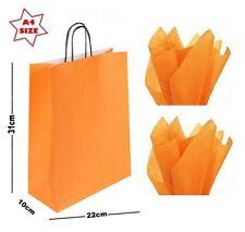 Orange A4 Papier Fête Sac Cadeau & Tissu Emballage ~ Boutique Magasin Transport