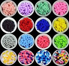 Craft Pom Poms Balls 36 Colours 8mm & 10mm Card Making Crafts, Pompom BU1216