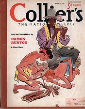 1937 Colliers August 7-Damon Runyon; Alan LeMay; Franco in Spain; Skeet shooting