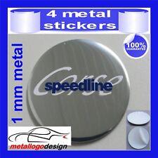 METAL STICKERS WHEELS CENTER CAPS Centro LLantas 4pcs SPEEDLINE 6