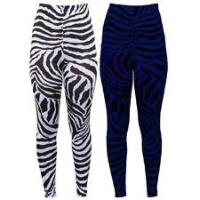 Damen Streifen Zebramuster Tiermuster Freizeit Dehnbar Party Tanz Neuheit