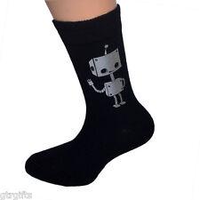 Cute Robot Design Childrens Socks - will suit Boy or Girl kids socks