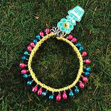 Pink Jingle Bells Anklet Ankle Bracelet Hoti Hemp Handmade Yellow Turquoise Hot