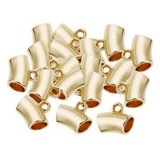 100 Stück Bail Tube Perlen Rohr Spacer Perlen Schmuck Anhänger Haar Dekoration