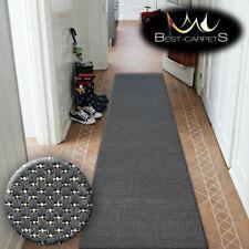 Runner Rugs SIZAL FLOORLUX black PLAIN modern Stairs Width 70,80,100,120cm LONG
