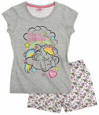 Girls My Little Pony T-Shirt Top Shorts Pyjama Set Grey 4 6 8 Years