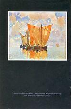 Venise Bateau de pêche Art pression 1926 Konstantin Gorbatov impressionnisme Fischer