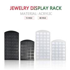 72 Holes Earrings Display Stand Organizer Jewelry Holder Rack Showcase Holder