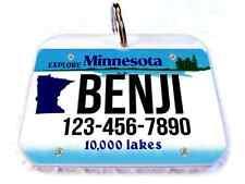Minnesota license vanity state car license plate dog cat custom tag ID4Pet