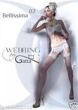 Gatta Bellissima 02 Hochzeitsstrümpfe & Strapsgürtel aus Spitze , Strip Panty