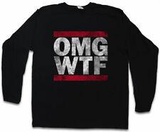 OMG WTF HERREN LANGARM T-SHIRT Run Letters DMC Fun Shirt Oh my God What the