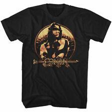 CONAN SHIELD BLACK ADULT Short Sleeve T-Shirt