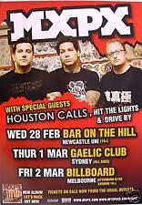 MXPX 2007 AUSTRALIAN CONCERT TOUR POSTER - PUNK ROCK