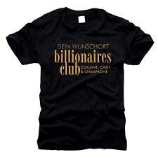 Billionaires Club Member con desiderio di stampa-t-shirt, TG S fino XXL