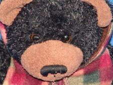 WISH PETS BLACK BEAR HUNTING JACKET 2003 TOY TEDDY BILL PLUSH STUFFED ANIMAL