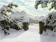 Winter Mountains Spruce I. Choultse Tile Mural Kitchen Backsplash Marble Ceramic