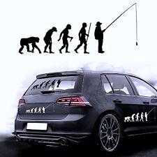 Autoaufkleber Sticker Autofolie Aufkleber Evolution Angeln Angler