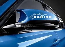 Racing Sport Car Truck Motorsport Mirror cover Vinyl Decal sticker emblem Logo