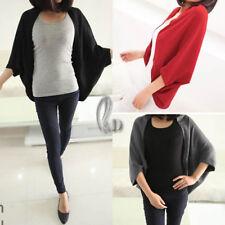 AU SELLER Womens Batwing Sleeve Open Cardigan Sweater Coat Top Shawl Scarf  T045