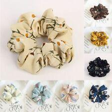 Flower Ring Ties Scrunchie Ponytail Holder Floral Hair Band Elastic Hair Rope