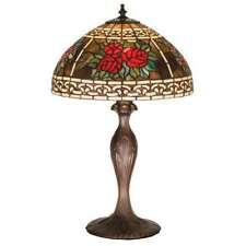 "Meyda Lighting 22.5""H Roses & Scrolls Table Lamp, Pbnawg Flame Bai - 37789"