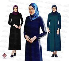 Women Ladies Full Sleeve Coat Style Abaya Modest Jilbab Turkish Ferace AL6000