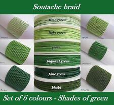 Original Soutache Braid Russia Cord 6 colours x 1, 2, 5 metres 100% viscose 3mm