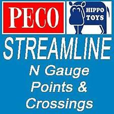 Peco N Gauge Setrack Petit Rayon Points droitier ou gaucher ST-5 ST-6 Neuf