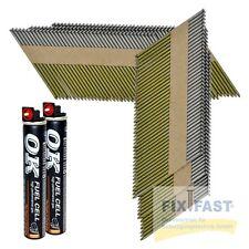 3000 Streifennägel 34° 3,1x75mm verzinkt geharzt rille papiergeb zertifiziert