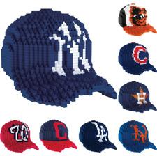 MLB Baseball 3D BRXLZ Mini Cap Puzzle Construction Block Set - Pick Team!