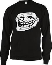 Troll Face Meme Internet Humor Joke Funny Nerd Geek Culture Long Sleeve Thermal