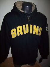 BOSTON BRUINS NHL Thick Sherpa Lined Full Zip Hoody Sewn Logos SMALL, MED, XL