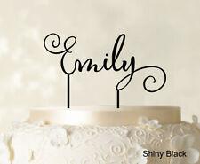 """Emily"" Custom Name Cake Topper Personalized Glitter Cake Topper Cake Decoration"