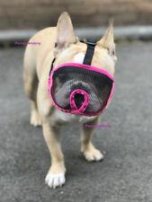 French Bulldog Muzzle Pug Boxer Flat Short Faced Dog Soft Mesh Dog Muzzle