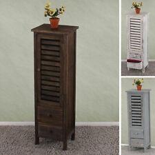 Commode / armoire, 2 tiroirs, 30x25x90cm, shabby,vintage ~ blanc, gris ou marron