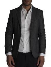 giacca uomo slim sartoriale con toppe lana stretch made in italy decostruita new