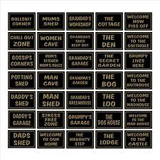 DAD's CAPANNONE / favore / House / Garage-plastica segno / Adesivo-scherzo, umorismo