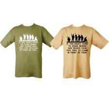 Mens 100% algodón Camiseta S-2XL colocamos detrás de nuestras tropas británicas apoyo del ejército de Estados Unidos