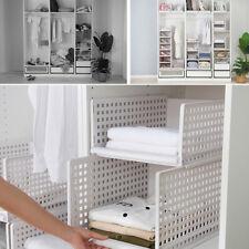 Portable Closet Storage Shelves Colthes Fabric Wardrobe Organizer Rack Shelf