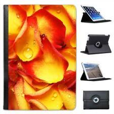 Glistening Wet Rose Petal Leaves Folio Leather Case For iPad Mini & Retina